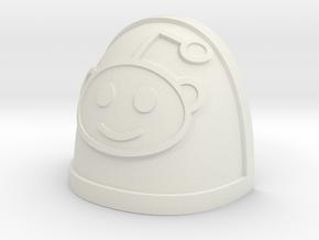 Reddit Alien shoulder Pad in White Natural Versatile Plastic