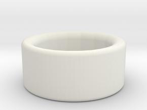 Jude Burford ring stainless steel in White Natural Versatile Plastic