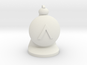 Hoplite for Spartan Chess™  in White Natural Versatile Plastic