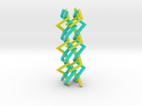 Three-dimensional z3 Chain-link Fence (Medium) in Full Color Sandstone