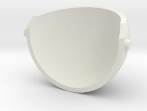 Puppet eyelid for 4cm ping pong balls in White Natural Versatile Plastic
