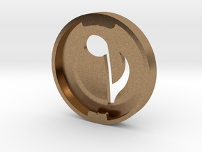 Music Note Bud Cover for GLASS in Natural Brass