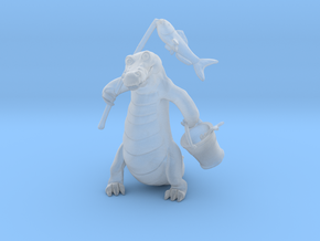 Gator Gone Fishing (color) in Smooth Fine Detail Plastic