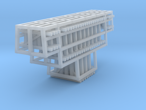 Bents Wood Trestle 1 in Smooth Fine Detail Plastic