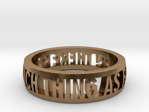 no such thing... ring (various sizes) in Natural Brass