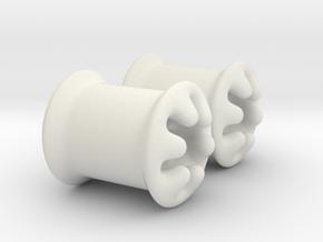 0g plugs in White Natural Versatile Plastic