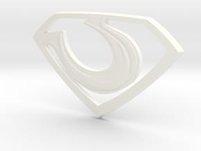 "Zod ""Man of Steel"" Emblem in White Processed Versatile Plastic"