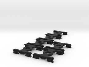 6 * FEA-B/E/F/S Bogies N Gauge 1:148 in Black Strong & Flexible