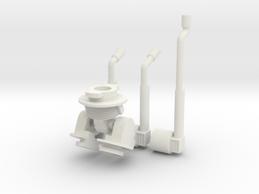 Robot V WSF parts in White Natural Versatile Plastic