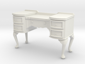1:24 Queen Anne Vanity in White Strong & Flexible
