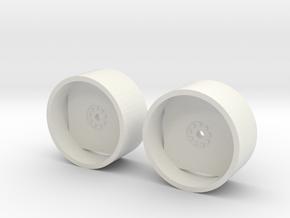 1:64 scale tractor Dual Rims in White Natural Versatile Plastic