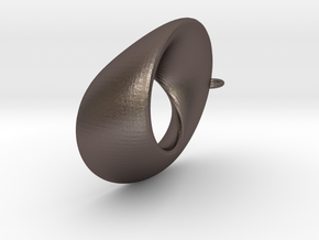 Mobius  - oval 4.5 cm long in Stainless Steel