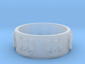 Ring of Seven Cats Ring Size 8.5 in Smooth Fine Detail Plastic