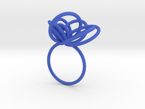 Flora Ring A (Size 8) in Blue Strong & Flexible Polished