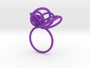 Flora Ring A (Size 8) in Purple Strong & Flexible Polished