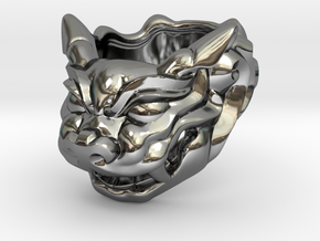 "Fu Dog (Komainu) ""a"" Ring in Premium Silver"