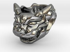 """Fu Dog (Komainu) """"a"""" Ring in Premium Silver"""