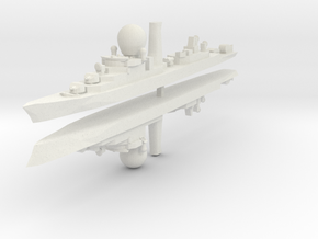 Suffren Frigate 1:2400 x2 in White Strong & Flexible