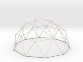 2V Dome - Medium in White Natural Versatile Plastic