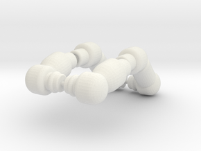 PEGO Arms Bent in White Natural Versatile Plastic
