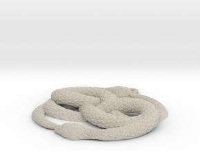3D-Printed AURYN Medallion in Natural Sandstone