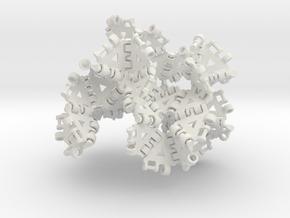 {3,8} radius 2 with boundary hinges in White Natural Versatile Plastic