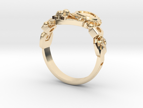 Mech Heart Ring in 14K Gold: 6 / 51.5