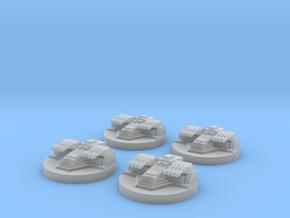 Star Destroyer Turret x4 in Smooth Fine Detail Plastic