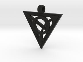 Transgender Warrior Pendant (medium) in Black Natural Versatile Plastic