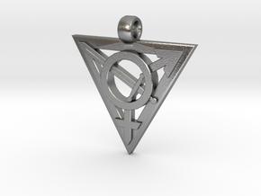 Transgender Warrior Pendant (medium) in Natural Silver