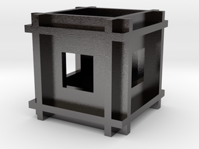 Cube-11 in Polished Nickel Steel