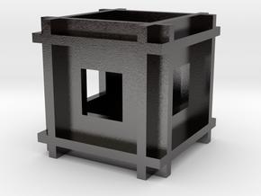 Cube-11 in Polished Nickel Steel