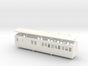 3mm scale LBER Brake Third Class Coach in White Processed Versatile Plastic
