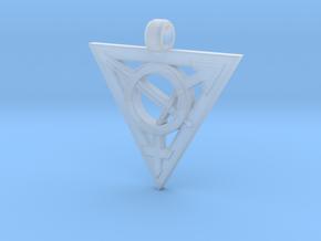Transgender Warrior Pendant (medium) in Smooth Fine Detail Plastic