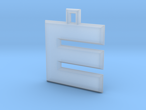 ABC Pendant - E/3 Type - Solid - 24x24x3 mm in Smooth Fine Detail Plastic