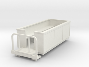 OO9 Small open coach in White Natural Versatile Plastic