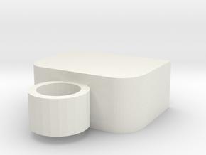 Usb Keyring Cap in White Natural Versatile Plastic