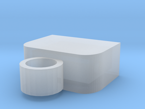 Usb Keyring Cap in Smooth Fine Detail Plastic