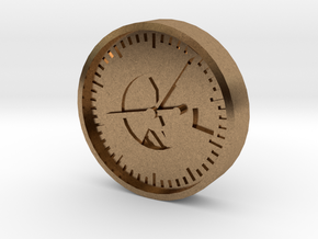 Aviation Button - Altimeter in Natural Brass