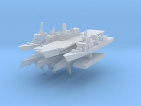 JMSF Fleet 2 1:3000 (8 ships) in Smooth Fine Detail Plastic