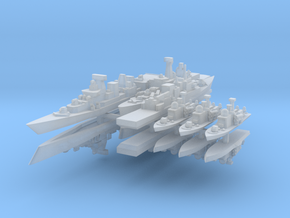 TelzyFleet 1:2400 (12 Ships) in Smooth Fine Detail Plastic