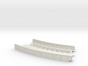 CURVED 220mm-245mm 30° DOUBLE TRACK VIADUCT in White Natural Versatile Plastic