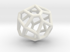 bilateral pentagonal icositetrahedron in White Strong & Flexible
