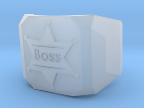 Mens Ring Boss in Smooth Fine Detail Plastic