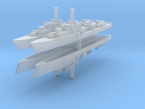 HMS Caesar (1944) (Ca-Class) 1:2400 x4 in Smooth Fine Detail Plastic