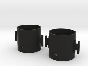 28mm Counter Rotating Case Set For 10mm Inrunner in Black Natural Versatile Plastic