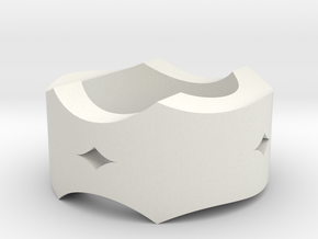 Wavy Ring 3 in White Natural Versatile Plastic