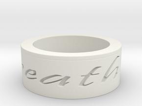 Breathe Ring Size 10 in White Natural Versatile Plastic