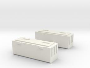 Brandblussers 2 Parts in White Natural Versatile Plastic