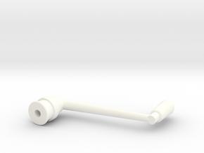SNCV manivelle frein - NMVB rem -SNCV brake in White Strong & Flexible Polished